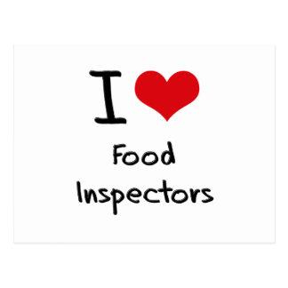 I Love Food Inspectors Post Card