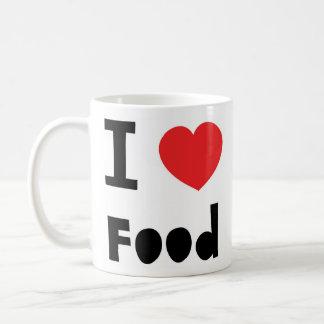 I love food basic white mug