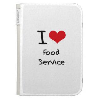 I Love Food Service Kindle 3 Cases