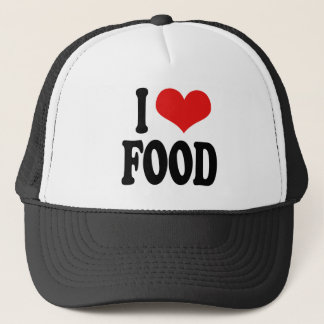I Love Food Trucker Hat