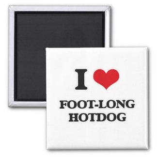 I Love Foot-Long Hotdog Magnet
