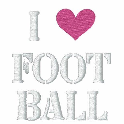 'I LOVE FOOTBALL' - Customized