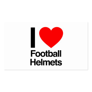 i love football helmets business cards