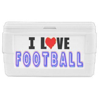 I Love Football Ice Chest