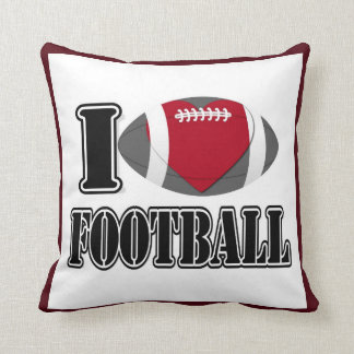 I Love Football Pillow