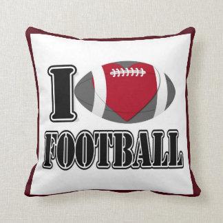 I Love Football Pillow Throw Cushion