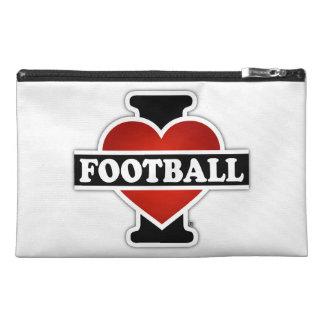 I Love Football Travel Accessory Bags