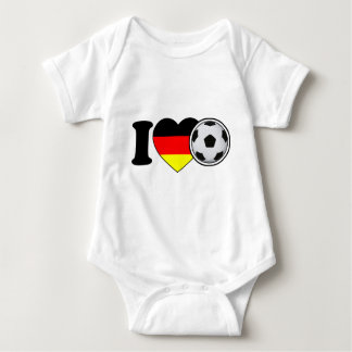 """I Love football"" - with popular Germany heart Baby Bodysuit"