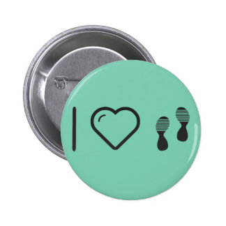 I Love Footprints Sexies 6 Cm Round Badge