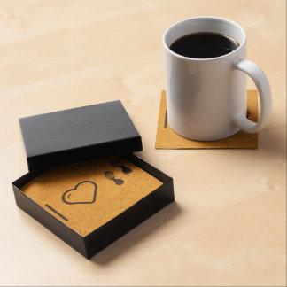 I Love Footprints Sexies Beverage Coasters