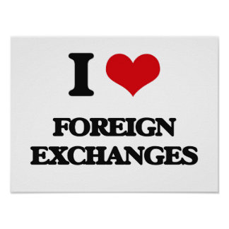 i LOVE fOREIGN eXCHANGES Print