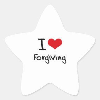 I Love Forgiving Star Stickers
