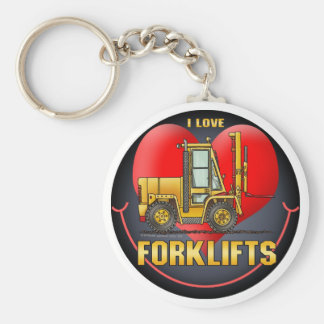 I Love Forklift Trucks Key Chain