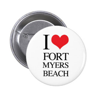 I Love Fort Myers Beach Buttons