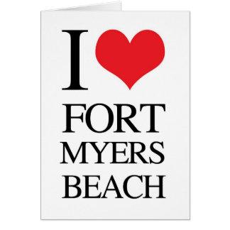 I Love Fort Myers Beach Card