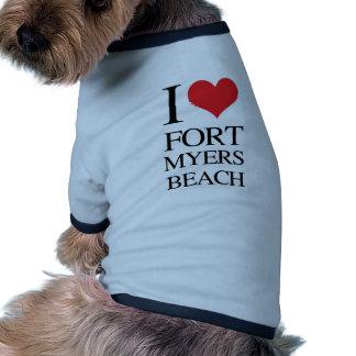 I Love Fort Myers Beach Pet Tee Shirt