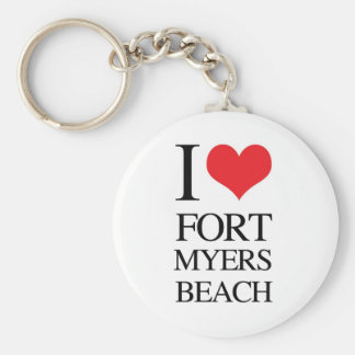 I Love Fort Myers Beach Key Chains