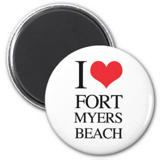 I Love Fort Myers Beach 6 Cm Round Magnet