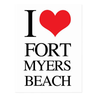 I Love Fort Myers Beach Postcard