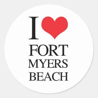 I Love Fort Myers Beach Round Sticker