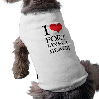 I Love Fort Myers Beach Sleeveless Dog Shirt