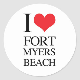 I Love Fort Myers Beach Stickers