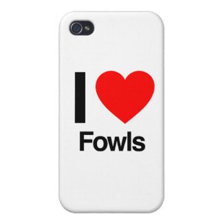 i love fowls iPhone 4 cover
