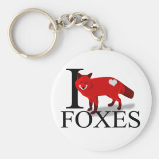 I Love Foxes Keychains