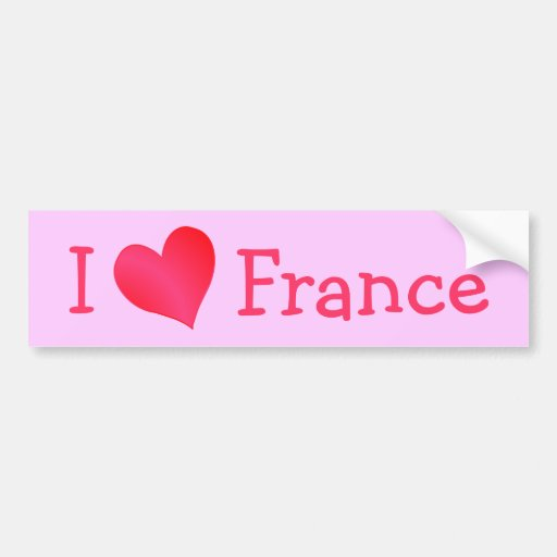 I Love France Bumper Stickers
