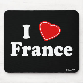 I Love France Mouse Pad