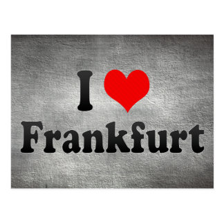 I Love Frankfurt, Germany Postcard