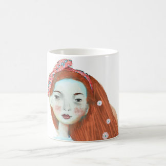 I love freckles mug cute red head girl sweet gift