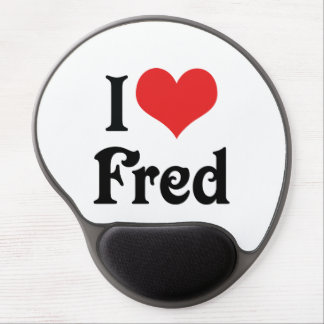 I Love Fred Gel Mouse Pad