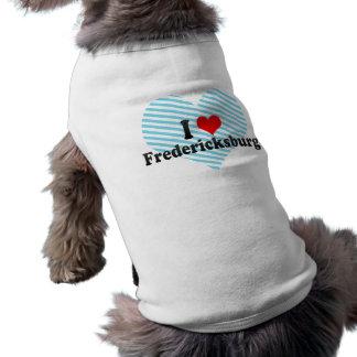 I Love Fredericksburg, United States Sleeveless Dog Shirt