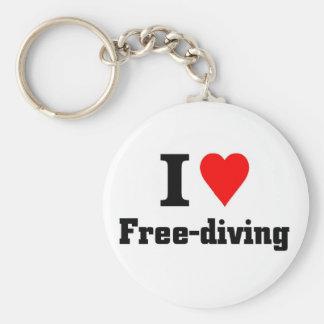 I love free diving key ring