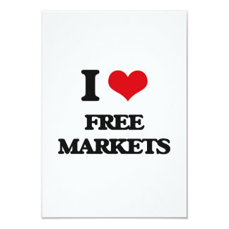 i LOVE fREE mARKETS Announcement Cards