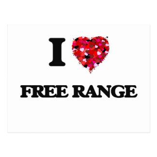 I Love Free Range Postcard