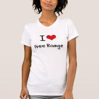 I Love Free Range Tee Shirts