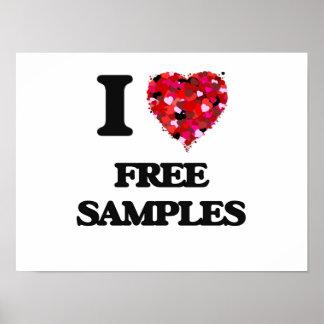 I Love Free Samples Poster