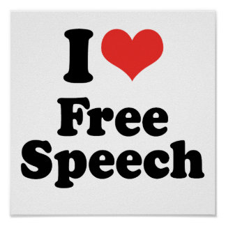 I LOVE FREE SPEECH - .png Posters