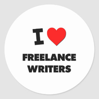 I Love Freelance Writers Stickers