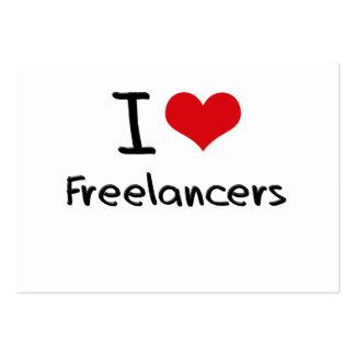 I Love Freelancers Business Cards