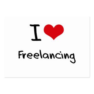 I Love Freelancing Business Card