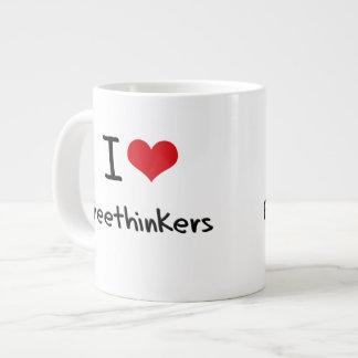 I Love Freethinkers Jumbo Mug