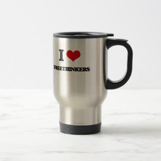 i LOVE fREETHINKERS Coffee Mugs