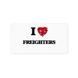 I Love Freighters Address Label