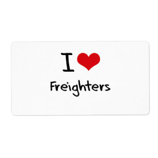 I Love Freighters Shipping Label