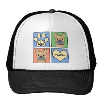 I Love French Bulldogs Cap