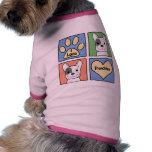 I Love French Bulldogs Pet Clothing
