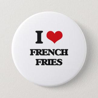 I love French Fries 7.5 Cm Round Badge